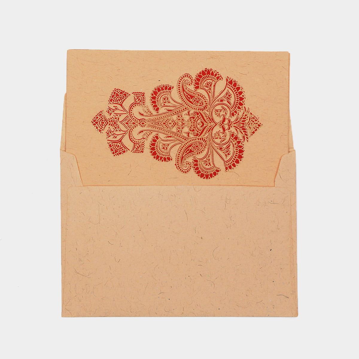 華麗花卉圖騰手工卡片 1