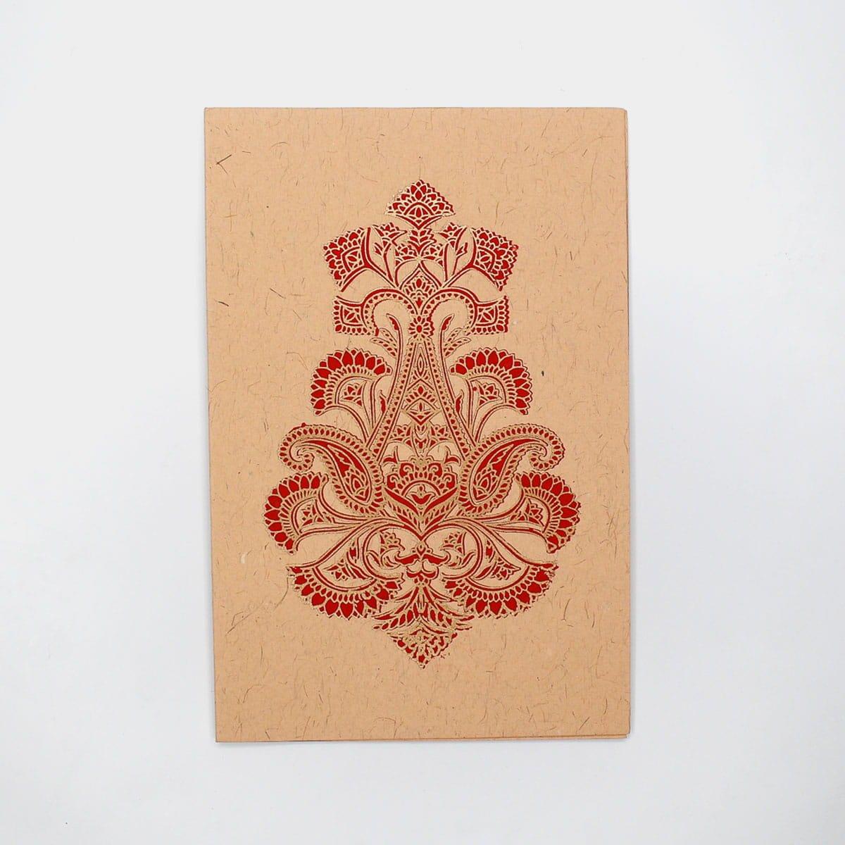 華麗花卉圖騰手工卡片 2