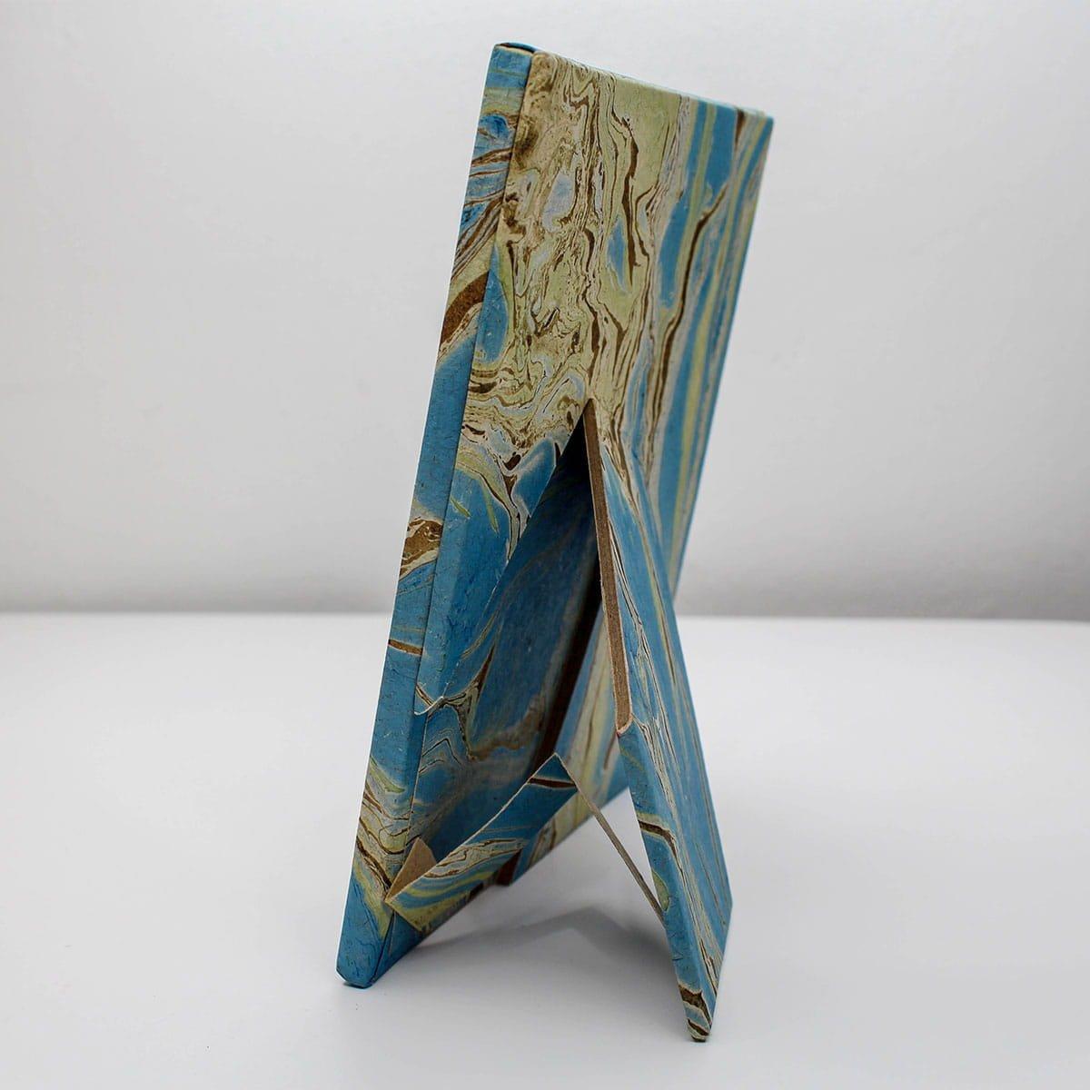 浮水染大理石紋手工紙相框  5