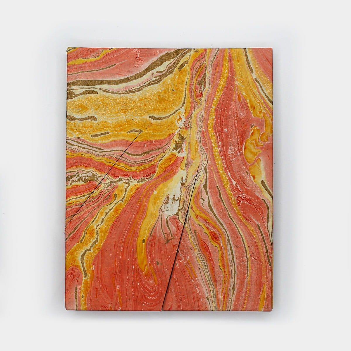 浮水染大理石紋手工紙相框  6