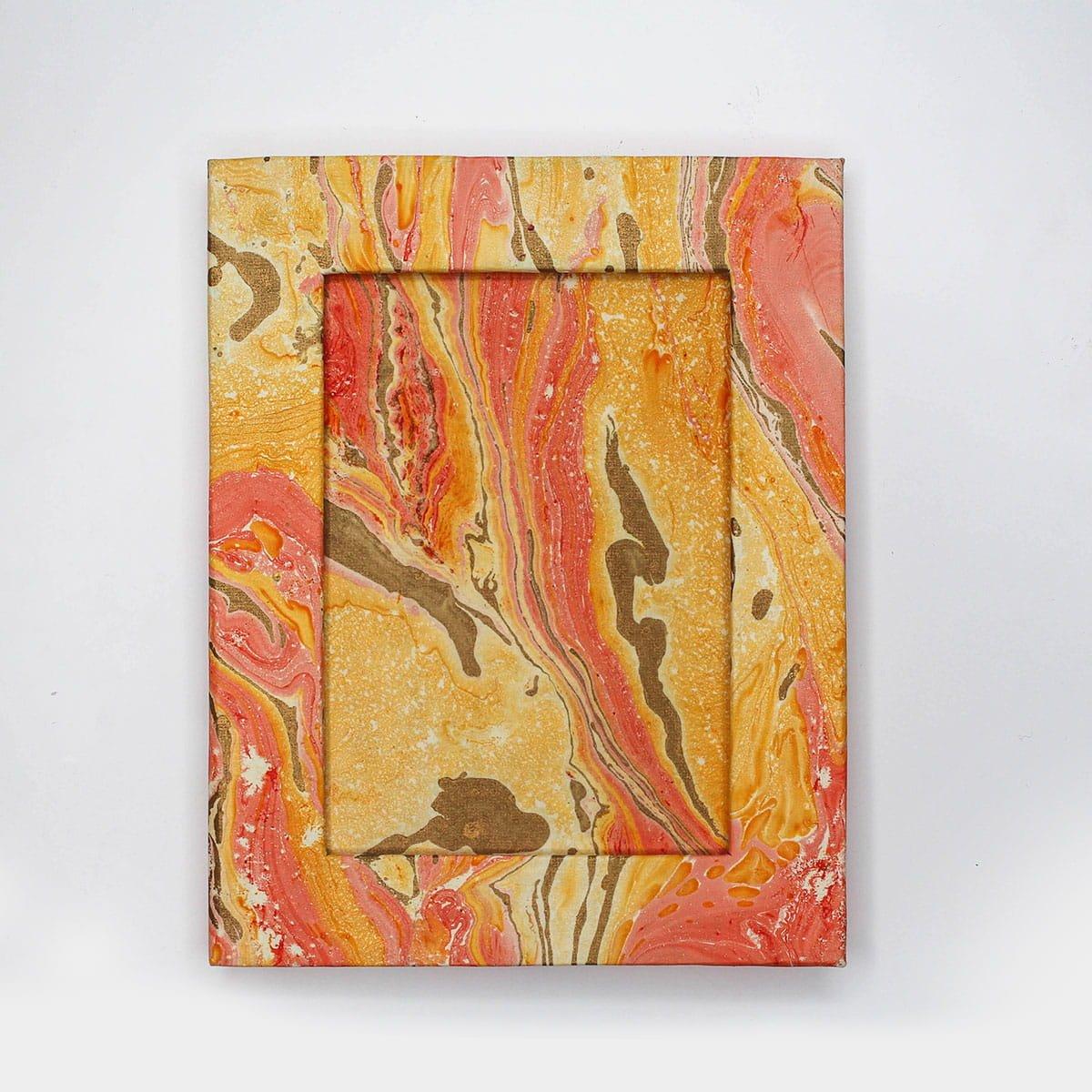 浮水染大理石紋手工紙相框  7
