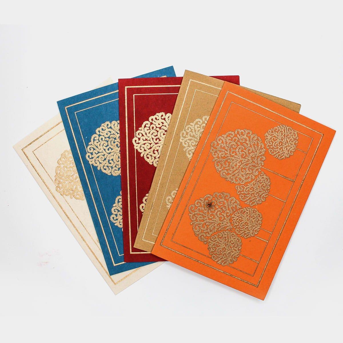 金葉子燙金圖騰手工卡片(一組五入)  2