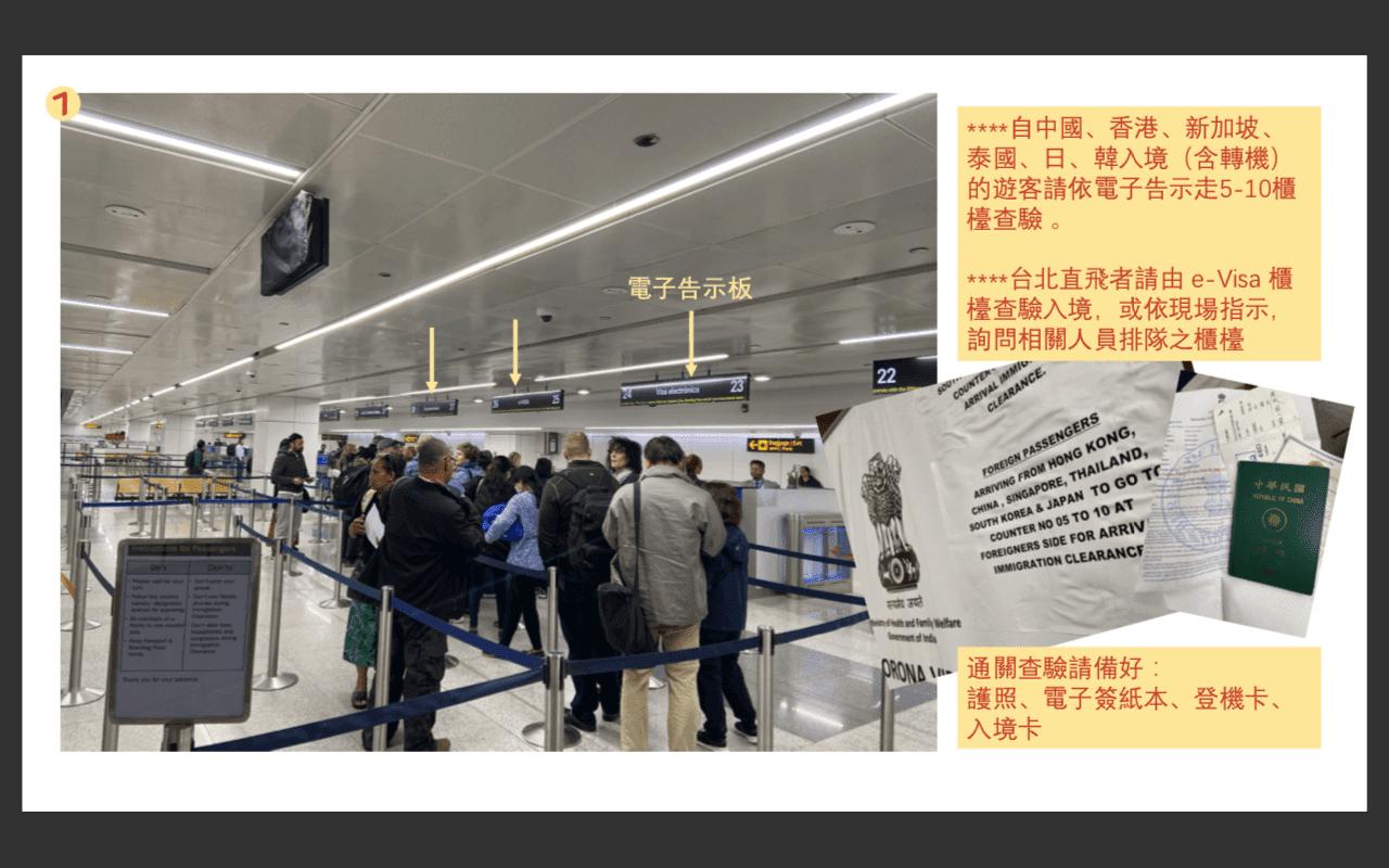 武漢肺炎:圖解新德里機場檢疫措施的入境調整