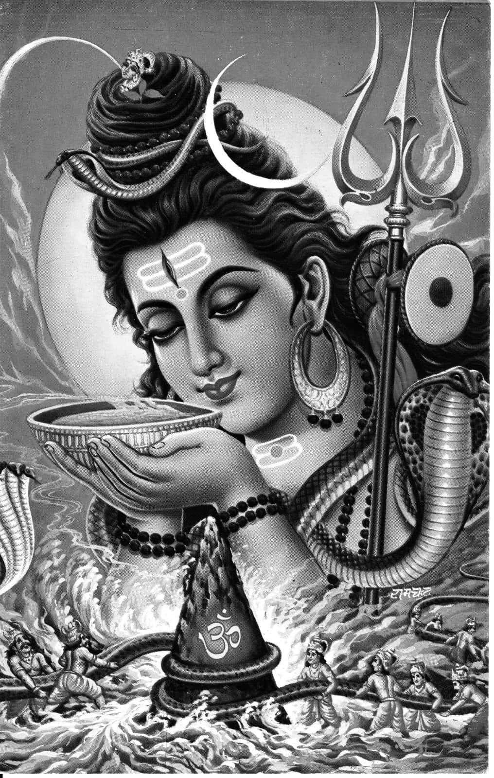 印度諸神皆有戲:攪拌海洋獲得不老不死靈藥——乳海攪拌事件
